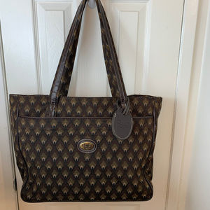 Diane Von Furstenberg Brown Patterned Tote Bag